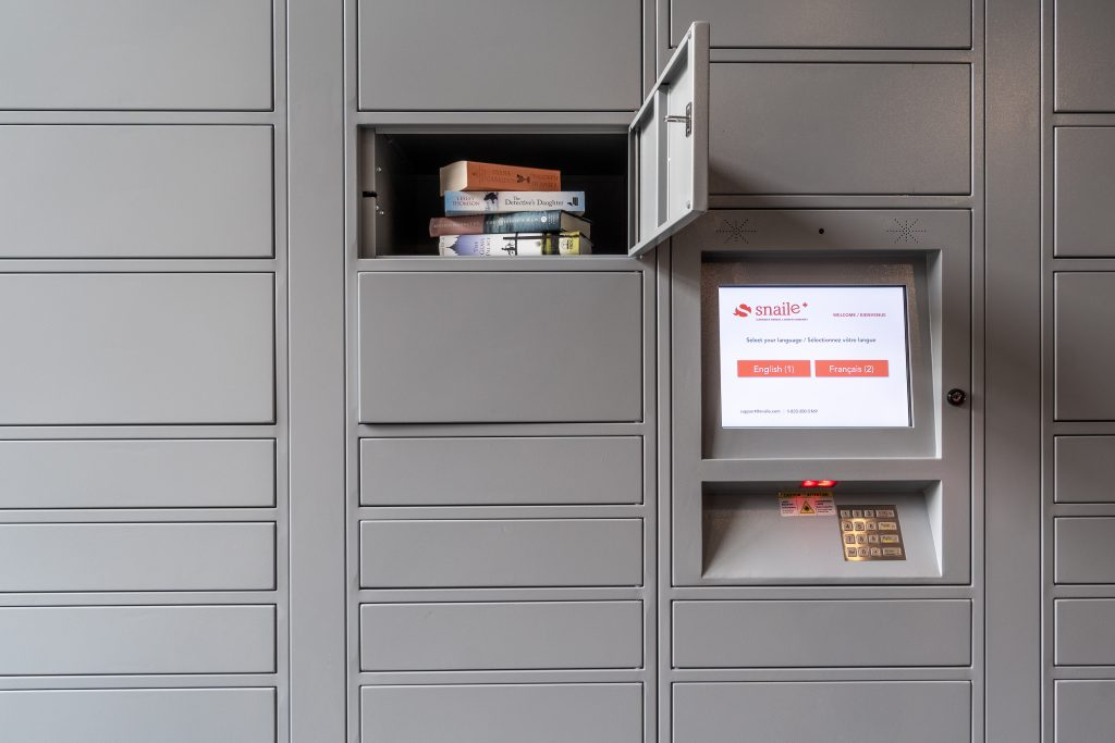 contactless parcel lockers