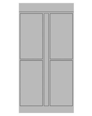 Smart locker 4 door expansion