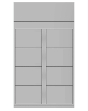 Smart locker 6 door expansion