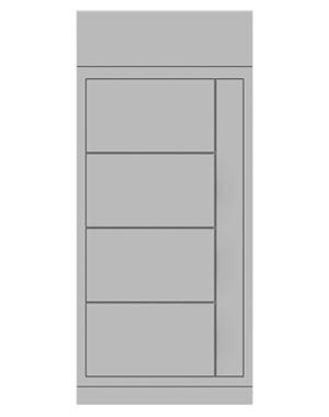 Smart locker 4 door frozen