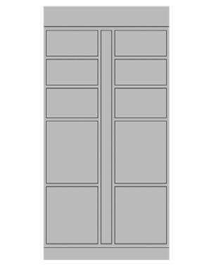 Smart locker 10 door expansion