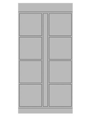 Smart locker 8 door expansion
